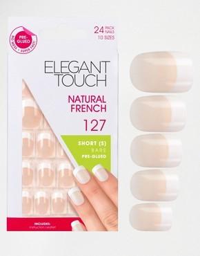 Короткие накладные ногти Elegant Touch - Французский маникюр 102 - Розовый
