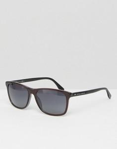 Солнцезащитные очки в D-образной оправе BOSS By Hugo Boss - Черный