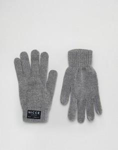 Серые перчатки Nicce - Серый