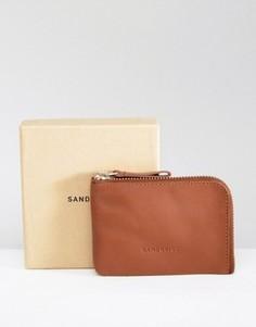 Коричневый кожаный бумажник Sandqvist Penny - Коричневый