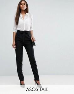 Тканые брюки‑галифе с поясом оби ASOS TALL - Черный