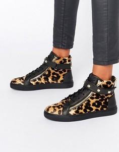 Высокие кроссовки с леопардовым принтом Juicy Couture - Мульти