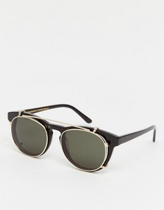 Солнцезащитные очки с пристегивающимися стеклами Han Kjobenhavn Timeless - Черный