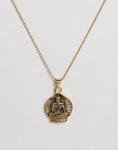Ожерелье с подвеской в виде Будды Seven London - Золотой