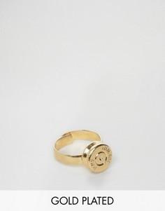 Золотистое кольцо с отделкой в виде пули Lovebullets - Золотой