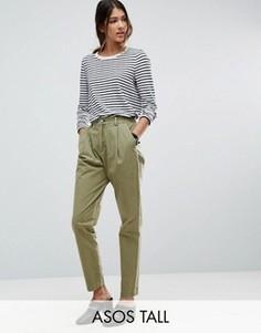 Выбеленные брюки-галифе ASOS TALL - Зеленый