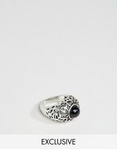 Серебристое кольцо с камнем DesignB London - Серебряный