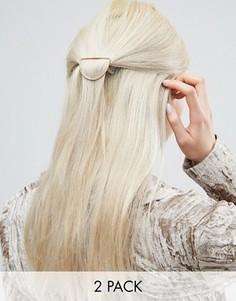 2 заколки для волос ASOS - Золотой