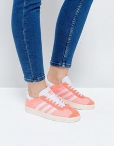 Кроссовки из премиум-трикотажа кораллового цвета adidas Originals - Розовый
