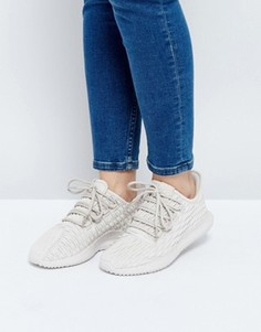 Бежевые кожаные кроссовки adidas Originals - Коричневый