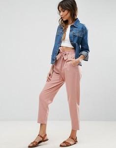 Льняные брюки-галифе с поясом ASOS - Мульти