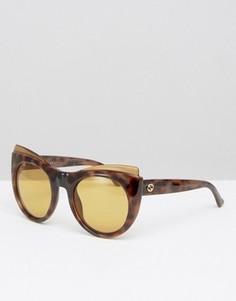 Большие квадратные солнцезащитные очки Gucci - Коричневый