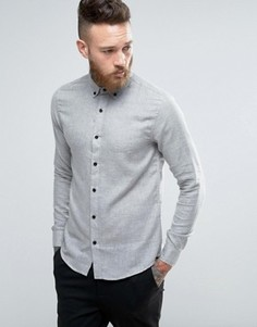 Серая мягкая рубашка слим Troy - Серый
