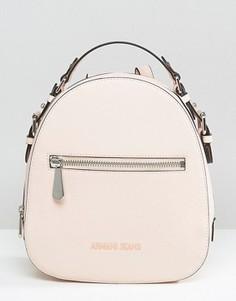 Розоватый рюкзак с тисненым логотипом Armani Jeans - Розовый