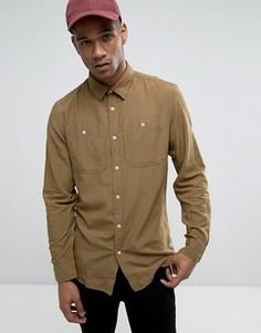 Облегающая рубашка с карманами в стиле милитари Jack & Jones Vintage - Зеленый