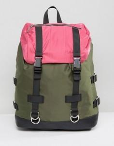 Походный рюкзак в стиле колор блок ASOS - Мульти