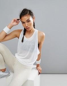 Укороченный двухслойный дышащий топ для тренировок Nike Pro - Белый
