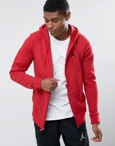 Худи красного цвета на молнии Nike Jordan Flight 822658-687 - Красный