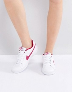 Красно-белые кроссовки Nike Court Royale - Белый