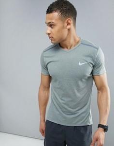 Серая дышащая футболка для бега Nike Tailwind 833136-037 - Серый