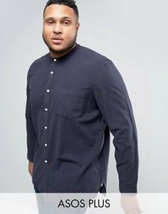 Рубашка классического кроя с воротником на пуговице ASOS PLUS - Коричневый