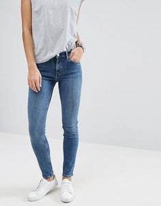 Узкие джинсы с классической талией Weekday Tuesday - Синий