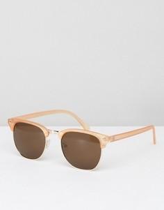 Солнцезащитные очки в стиле ретро ASOS - Розовый