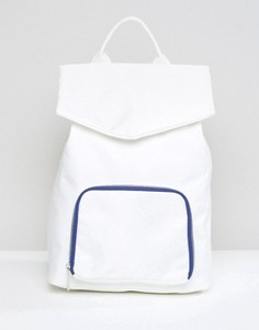 Рюкзак с контрастной молнией ASOS LIFESTYLE - Белый