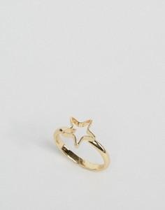Кольцо со звездой ASOS - Золотой