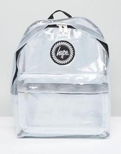 Прозрачный рюкзак в клетку Hype - Белый