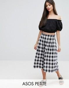 Льняная юбка для выпускного ASOS PETITE - Мульти