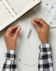 Белые беспроводные наушники с функцией Bluetooth от Happy Plugs - Белый