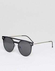 Черные солнцезащитные очки в круглой оправе Spitfire - Черный
