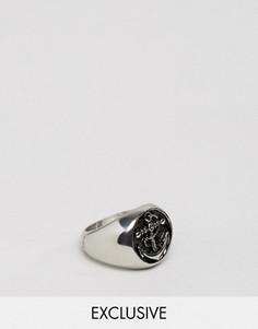 Массивное серебристое кольцо с якорем Seven London эксклюзивно для ASOS - Серебряный
