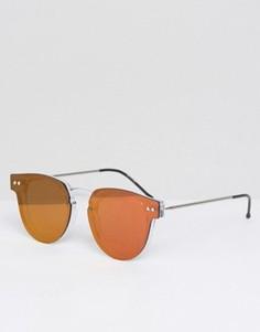 Круглые солнцезащитные очки с прозрачной переносицей Spitfire - Красный