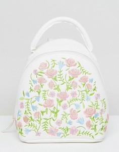Миниатюрный рюкзак с вышивкой ASOS - Белый