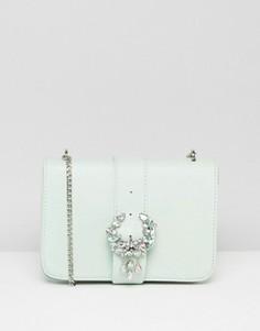 Декорированная сумка через плечо с пряжкой ASOS - Зеленый