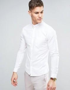 Повседневная оксфордская рубашка скинни ASOS - Белый