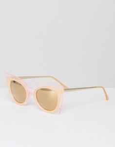 Большие солнцезащитные очки кошачий глаз South Beach - Розовый