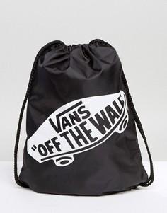 Черная сумка со шнурком Vans Off The Wall - Черный