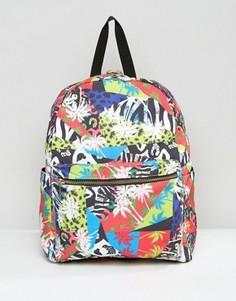 Рюкзак с тропическим принтом в стиле 80-х ASOS - Мульти