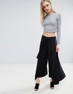 Широкие брюки ADPT Ella - Черный
