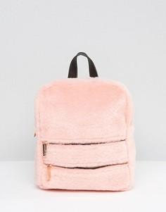 Рюкзак из искусственного меха с двойной молнией Skinnydip - Розовый