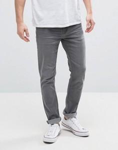 Серые выбеленные джинсы скинни Hoxton Denim - Серый