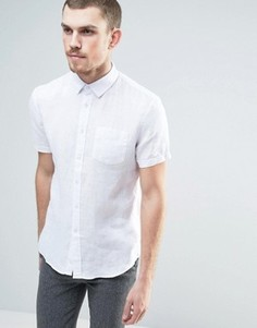 Льняная рубашка с короткими рукавами Celio - Белый