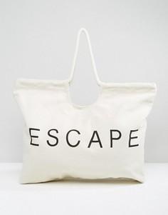 Пляжная сумка Monki - Белый