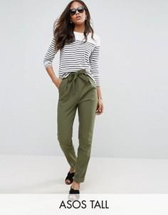 Тканые брюки‑галифе с поясом оби ASOS TALL - Зеленый