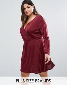 Платье с запахом Pink Clove Plus - Красный
