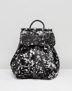 Рюкзак с пайетками Missguided - Черный