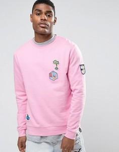 Розовый свитшот с нашивками ASOS - Розовый